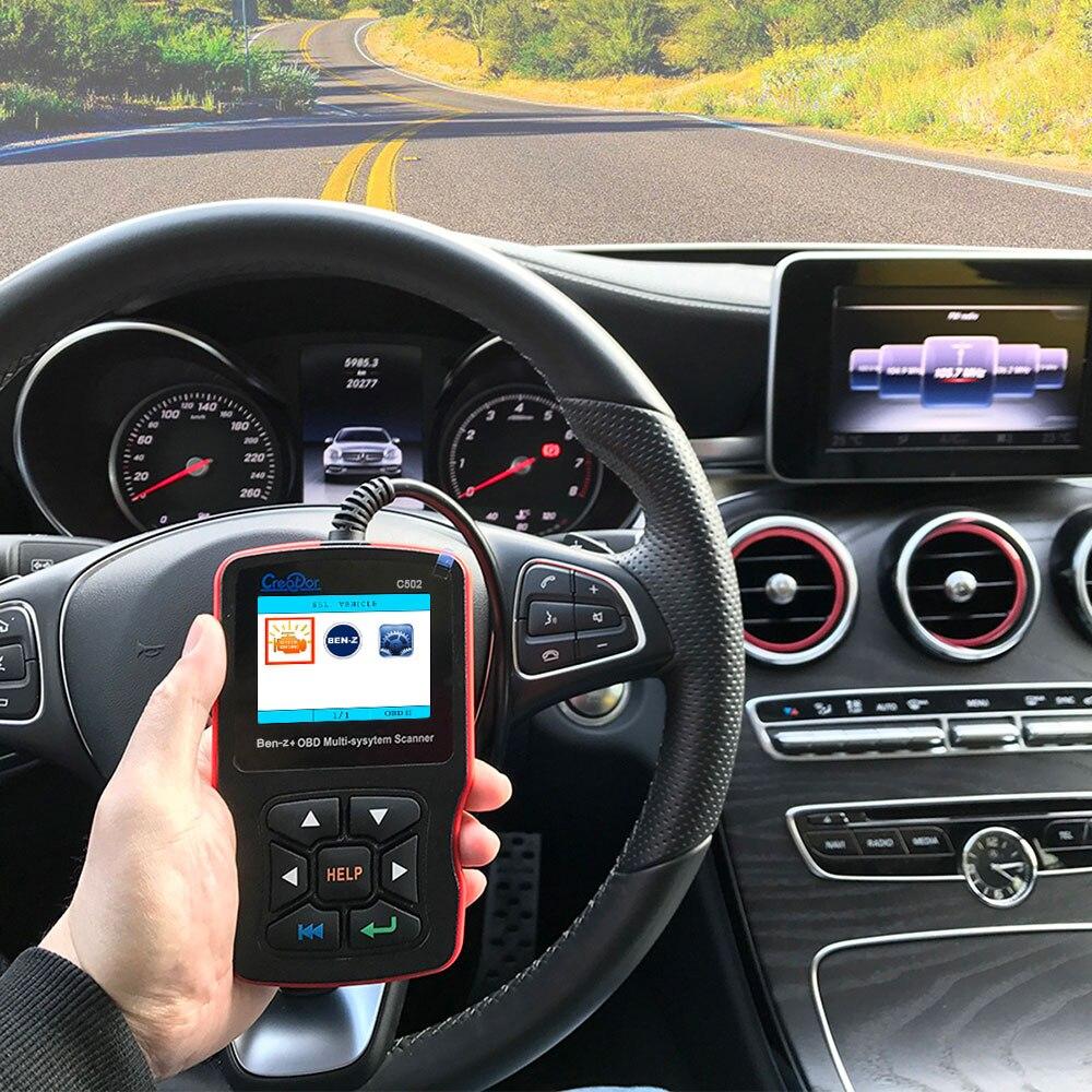 US $74 1 |NewestOBD2 Car Diagnostic Tool CREATOR C502 Automotive Scanner  for Mercedes Benz W211 W203 W124 OBD2 Engine Fault Code Reader-in Code