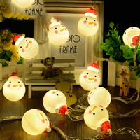 Novelty Christmas Led Light String 4M 20 Leds Snowman Christmas New Year Holiday Event Light Decoration