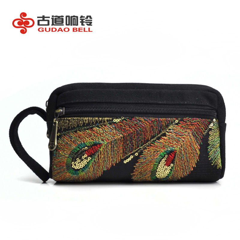 Purse Wallets Money-Bags Coins Factory-Spot Clutch Embroidery Small Women's Cute Popular