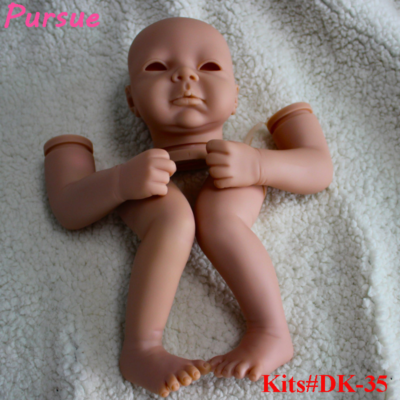Pursue 21 inch Open Eyes Reborn Baby Doll Kits Suit for 20-22 Inch DIY Life Like BeBe Reborn Blank Kits Soft Vinyl Reborn Kits lifelike soft vinyl unpainted reborn doll kits 11 inch full vinyl boy doll anatomically correct soft vinyl reborn doll kits