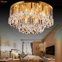 50 CM Gömme Montaj Modern Tavan Işıkları K9 kristal tavan Lambası yatak odası lambası oturma odası ışıkları moda Tavan aydınlatma kristal