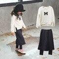 Девушки одежда Детская одежда устанавливает Детской одежды Девушка одежда набор Ропа де нины Девушки комплектов одежды Футболка и брюки костюмы