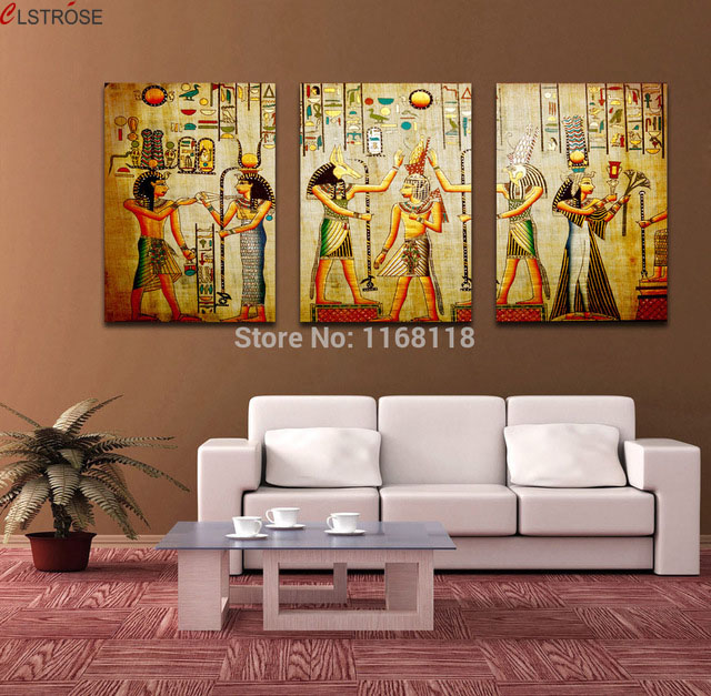 Wohnungseinrichtung App Clstrose Triple Abstract No Frame Picture Egyptian Mural