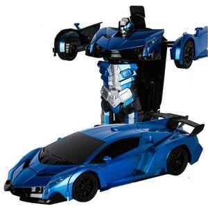 Image 4 - RC רכב שינוי רובוטים ספורט רכב דגם רובוטים צעצועי עיוות מגניב ילדים רכב מתנות לבנים