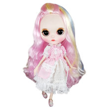 где купить Free Shipping 30cm Rainbow BJD Doll 1/6 Cute Fashion Body Joint Doll With Long Curl Hair High Quality Toy For Children As Gifts по лучшей цене