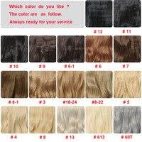 Клип в наращивание волос синтетические волосы 4 зажимы один кусок дюймов 24 дюймов блондинка натуральный толстый длинные волосы 190 г