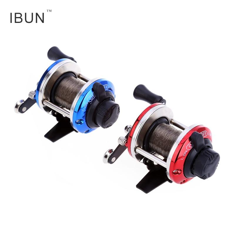 IBUN Mini Right Hand Cast Drum Wheel Fishing Reel Wire Winder with 0.2mm Line 50m
