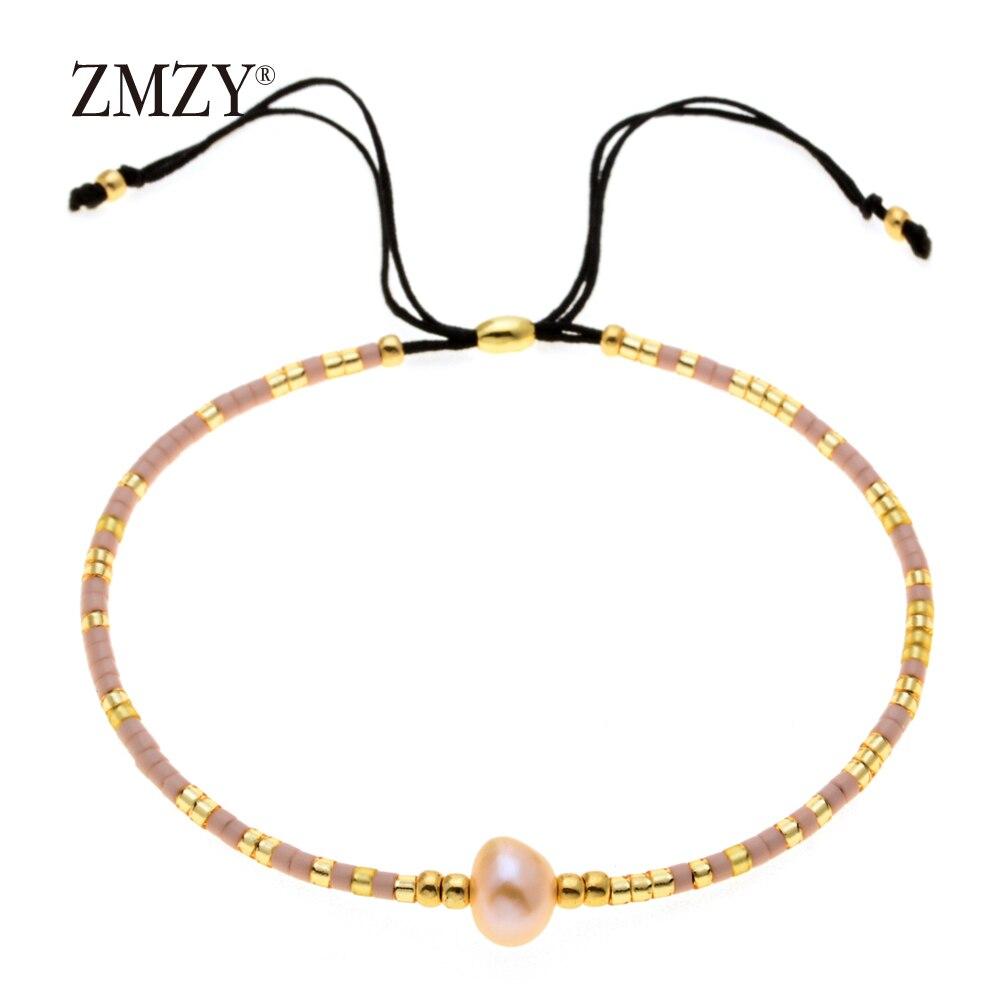 ZMZY Miyuki Delica, бисер, женские браслеты, ювелирные изделия дружбы, модные, сделай сам, Bijoux Femme, простые браслеты, Прямая поставка - Окраска металла: QSSL003-18