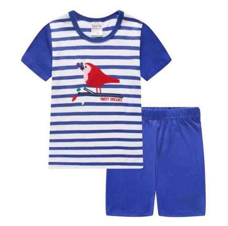 Neue Grün Dino Kinder Kleidung Sets Dinosaurier Jungen Pyjamas Anzug Sommer Baby Jungen pijama Kid pyjama Säuglings kleidung set SS003
