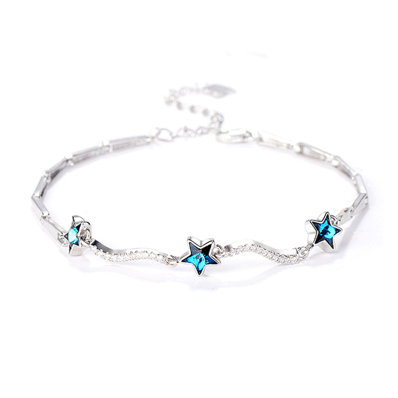ZTUNG ZHS1 2019 stars Green Stone classic S925 Stering silver Fine jewelry bracelet for women bangle gift with free packingZTUNG ZHS1 2019 stars Green Stone classic S925 Stering silver Fine jewelry bracelet for women bangle gift with free packing