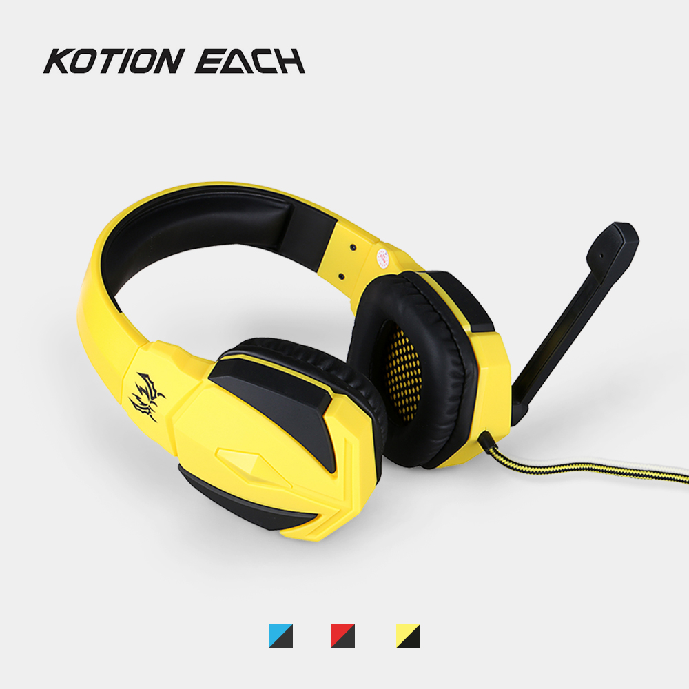KOTION EACH G4000 USB Stereo Gaming Headphone 2.2M Wired Bass Headset w/ Mic Headband Game Headsets for PC Laptop Computer Gamer professional over ear headband stereo bass wired game gaming headset headphone with microphone for computer pc laptop gamer