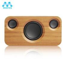 MEMTEQ Holz Lautsprecher Bluetooth Unglaubliche 2,1 Kanal Sound Bamboo Stereo Lautsprecher Dual Embedded Lautsprecher Für Telefon PC