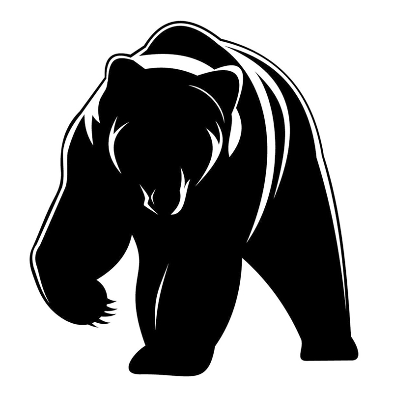 Cute Grizzly Bear JDM Vinyl Decal Animal Sticker Fits Car Window Truck Bumper Rear Windshield Laptop Kayak Decor Cars Styling