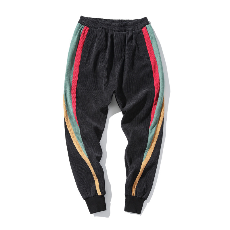 2018 New Striped Leisure Jogges Pants Men Hip Hop Streetwear Sweatpants Homme Fashion Loose Rainbow Mens Pant Oversize 5XL ...