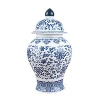 Jingdezhen antique porcelain blue and white general tank cans tea jar storage tanks