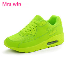 women AIR running shoes Mesh Outdoor walking jogging sports shoes Waterproof table leather stitching fight cross straps sneakers