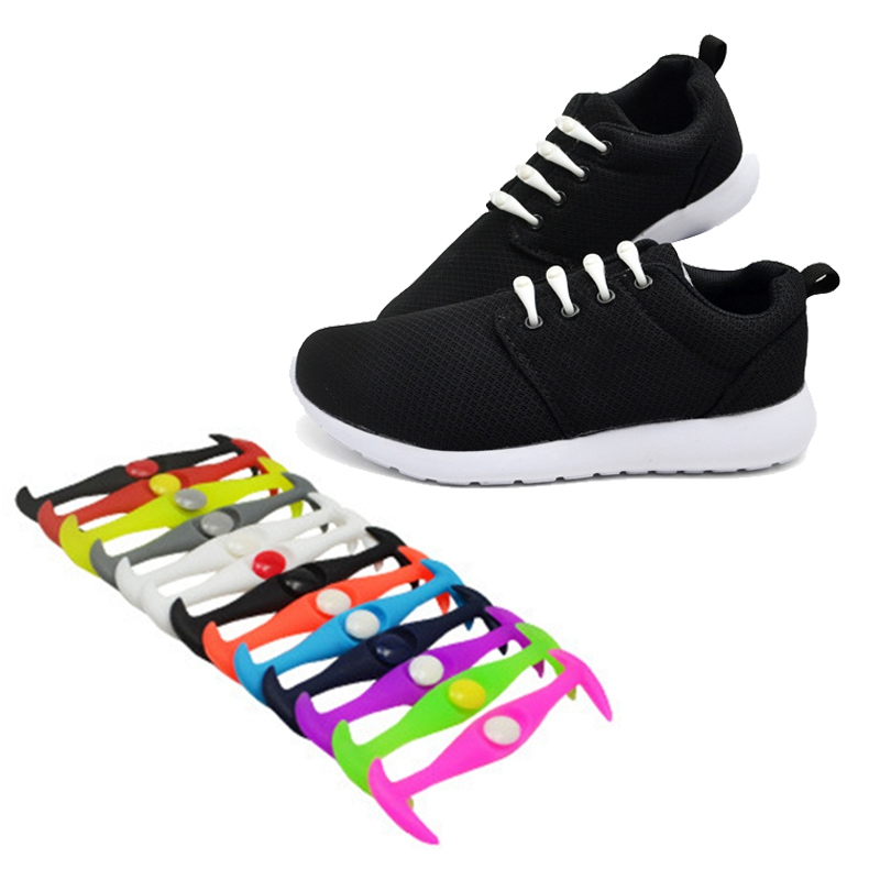 12pcs/lot No Tie Shoelaces for Women Men Sneakers Unisex Elastic Silicone Shoe Lace Male Female Shoelaces Shoes Accessories darseel shoe accessories shoelaces hbf