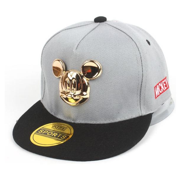 2017 Hot Mickey ouvido chapéus crianças Tampas boné de beisebol do snapback com orelhas Chapéus Engraçados verão hip hop chapéus menino tampas