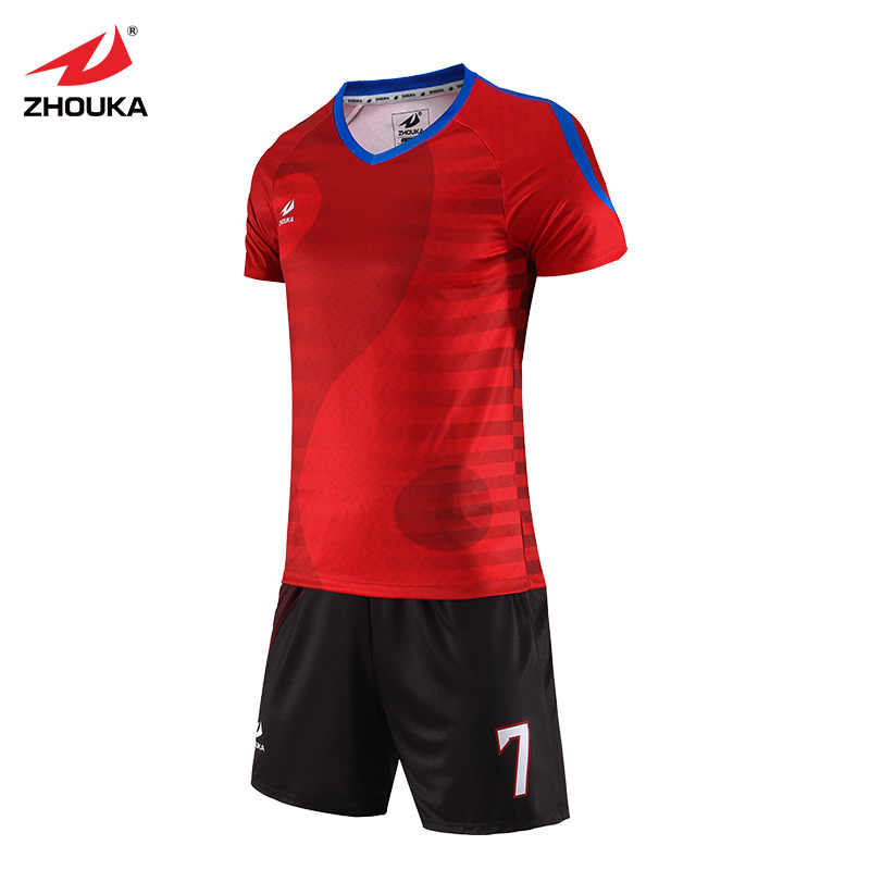 f04558235 ... Full Sublimation Custom Soccer Uniforms Sports Jersey For Man Boys kits  diy tracksuit france Football Shirt ...