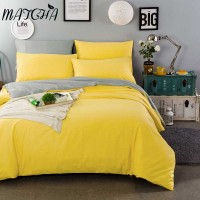 Matcha Store Candy Color 100 Cotton Duvet Cover Not Fade 4 Size Quilt Cover Soft Bedding