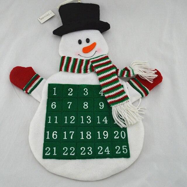 Calendario Countdown.Us 7 79 40 Off Creative Christmas Decor Advent Calendar Christmas Santa Claus Snowman Countdown Calendar Calendario Navidad Home Party Decor In