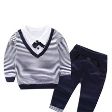 Male child autumn set 1 - 5 baby boy spring and autumn child clothing children's spring 2017 kids clothes 2016 male child set sweatshirt child spring and autumn clothing children s twinset sports child baby spring outerwear