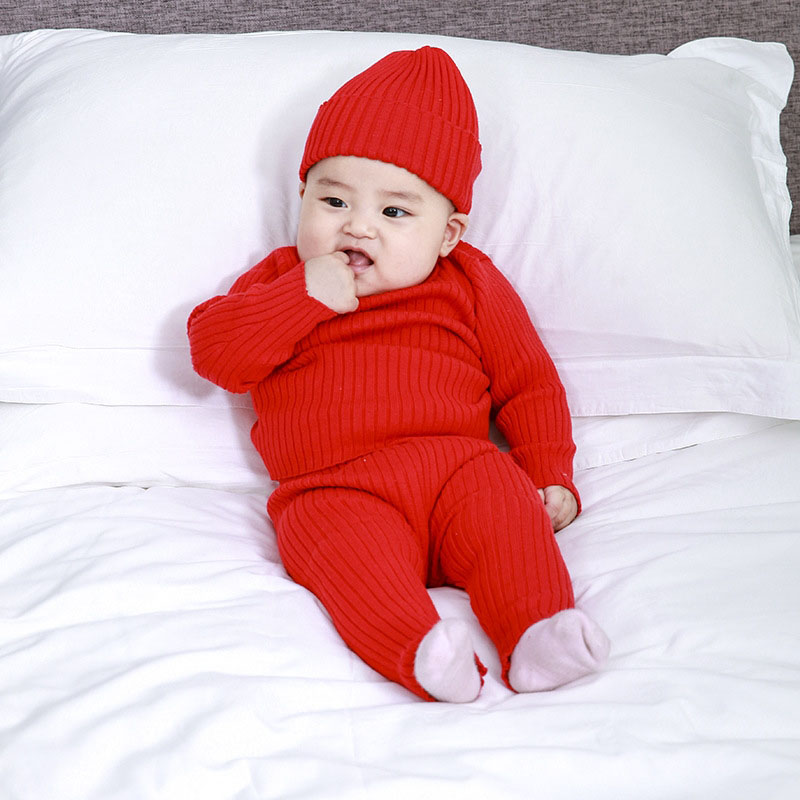 newborn baby things ribbed sets autumn winter tops knit sweater jumper pants trousers infant toddler kids girl boy 0 3 6 9 12 m