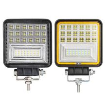 48W 126W LED Work Light With Angel Eye Lamp 4inch Vehicle Truck For SUV