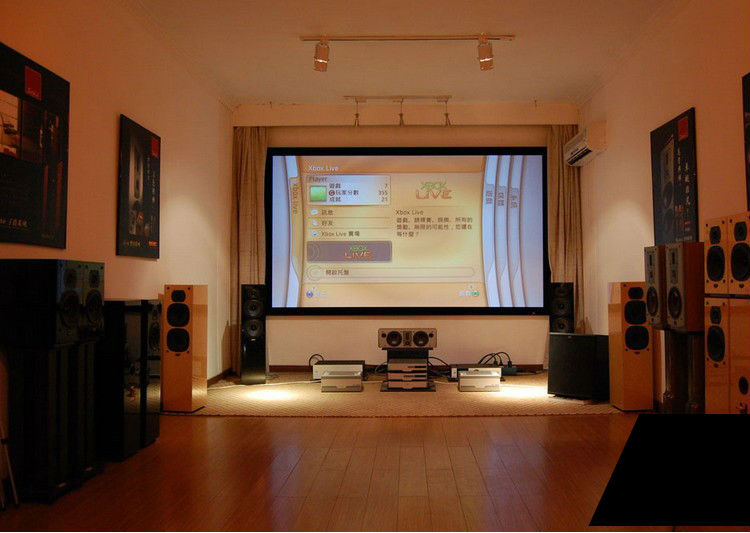 aliexpresscom buy luxury top rank home theater matte white120inch 120 43 fixed frame projection pvc projector screen from reliable projector