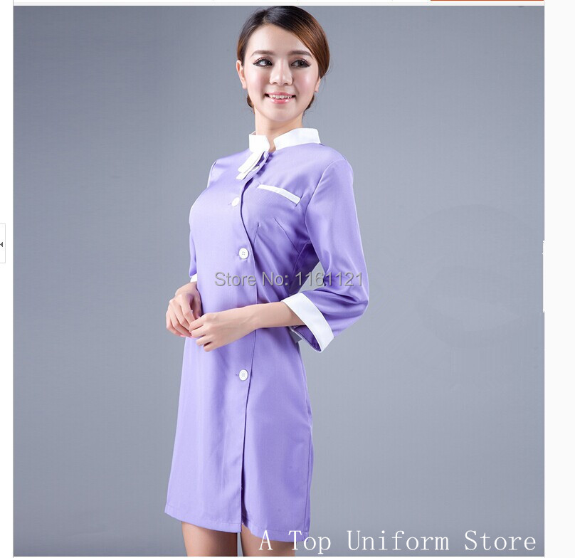 2017 Nursing Scrubs New Arrival Surgical Cap Medical Suit Lab Coat Beauty Salon Nurse Dental Clinic Working ,new Design Uniform