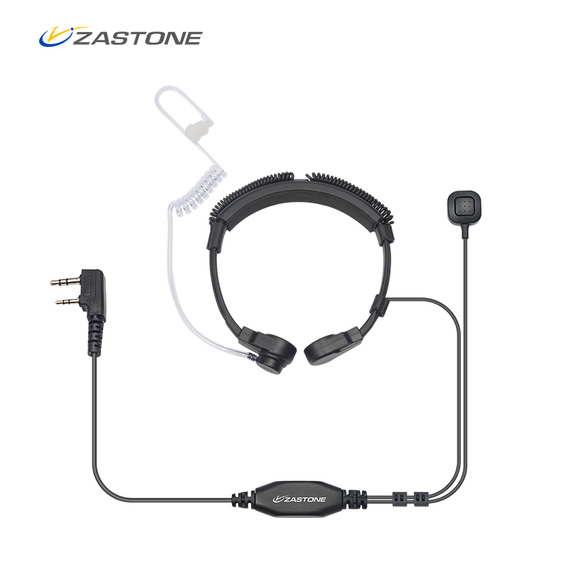 Zastone Walkie Talkie Headphone Earpiece Air Acoustic Tube 2 Pin PPT Earphone For Radio Headset Baofeng Accessories Microphone