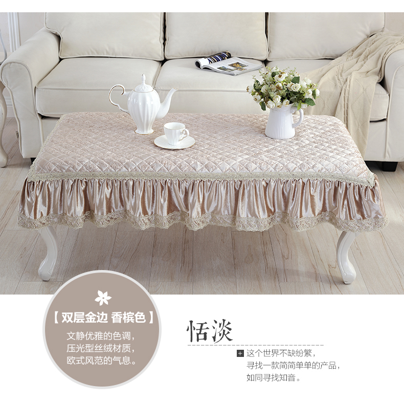 Table Mats European Tablecloths Lace Anti-ironing Tablecloths Velvet Tea Cloth Offee Mats  Quilted Mat
