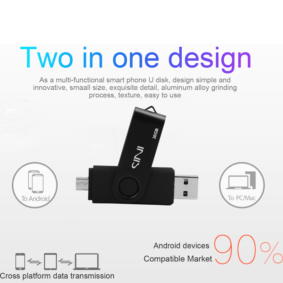 синий кабель OTG флеш накопитель андроид смартфон 32 гб 16 гб карту флэш-памяти с интерфейсом USB для флешки 8 гб 4 гб отз интерфейсом USB на 64 гб памяти диска для подарка
