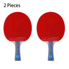лучшая цена 2 pcs Double Fish 3 Star Table Tennis Racket Fared Pingpong Paddle Horizontal Grip Bats with 2 sides Pimples-In rubbers