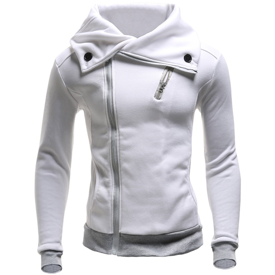 Zogaa Hoodies Men 2018 Brand Male Long Sleeve Solid Color Hooded Sweatshirt Men Zipper Black Big Size Poleron Autumn Sweatshirts