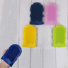 1Pcs Soft Silicone Massage Scrub Gloves Bath Brush Exfoliating Gloves for the
