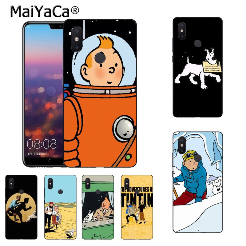 Cellphones & Telecommunications Maiyaca Tintin Ddark Illustration Moon Dog Phone Case For Xiaomi Mi 6 Mix2 Mix2s Note3 8 8se Redmi 5 5plus Note4 4x Note5 Elegant Appearance Phone Bags & Cases
