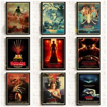 A Nightmare On Elm Street Poster di Film Horror Pittura Retro/Vintage Stampati Kraft sacchetti di Carta Murales Decorazione Della Parete