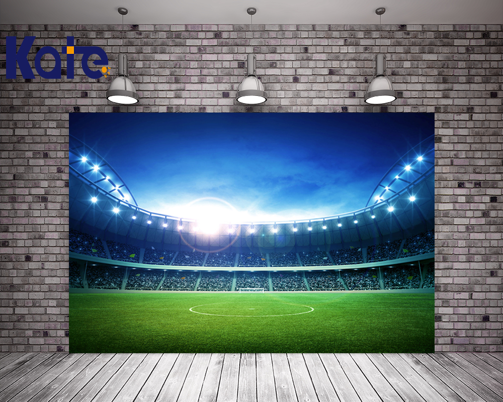 Kate 10x20ft Stadium Background For Photography Light Seat Photo Shoot Background Football Field Photographer Backdrop