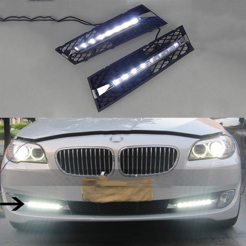 Car Styling Led Drl Daytime Running Light For Bmw F10 F18 5 Serise
