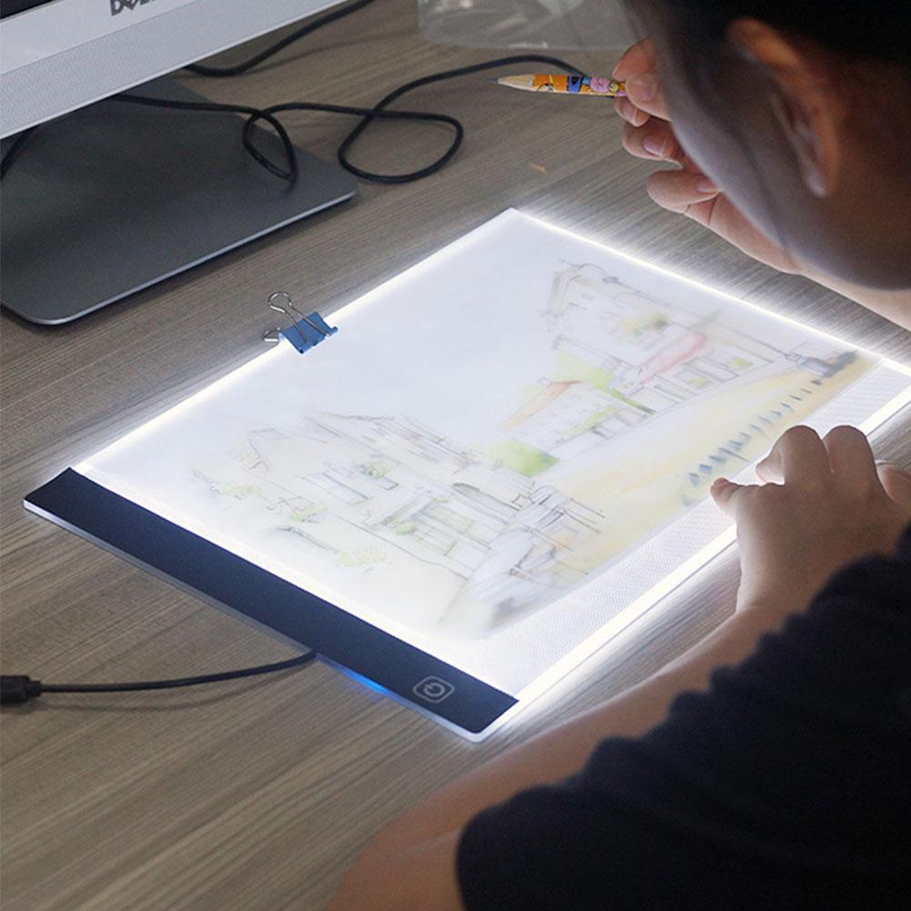 HobbyLane A4 LED Cartoon Light Tablet Pad USB Charging Copyboard Facsimile Board Light Table Gift For Children
