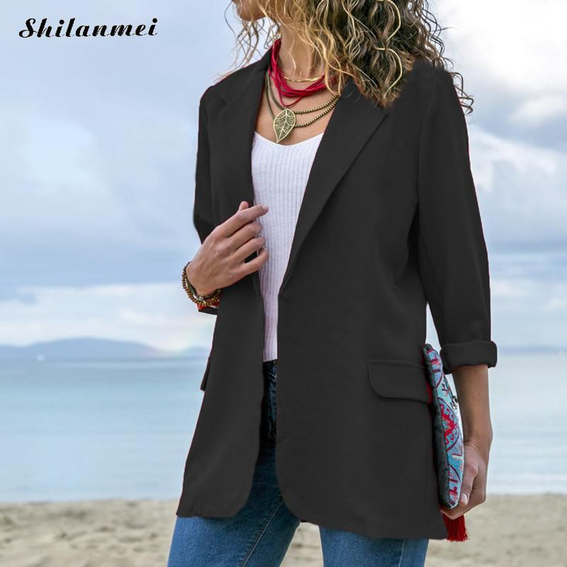 New Office Lady Elegant Suits Long Sleeve Woman Black Red Blazers And Jacket 2018 Spring Autumn Outwear Femenino
