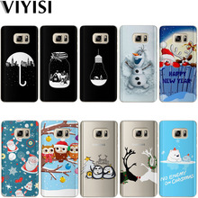 VIYISI Christmas Phone case For Samsung Galaxy s8 A5 2017 Case S9 Plus Cover J7 J5 J3 A5 A3 2015 2016 2017 S6 S7Edge Coque Shell все цены