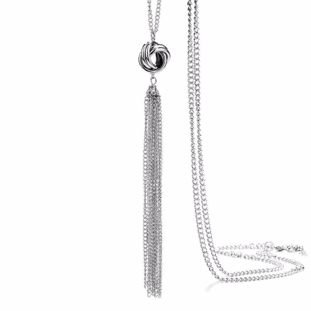 Onnea dlouhý přívěsek střapce náhrdelníky nový módní svetr - Bižuterie