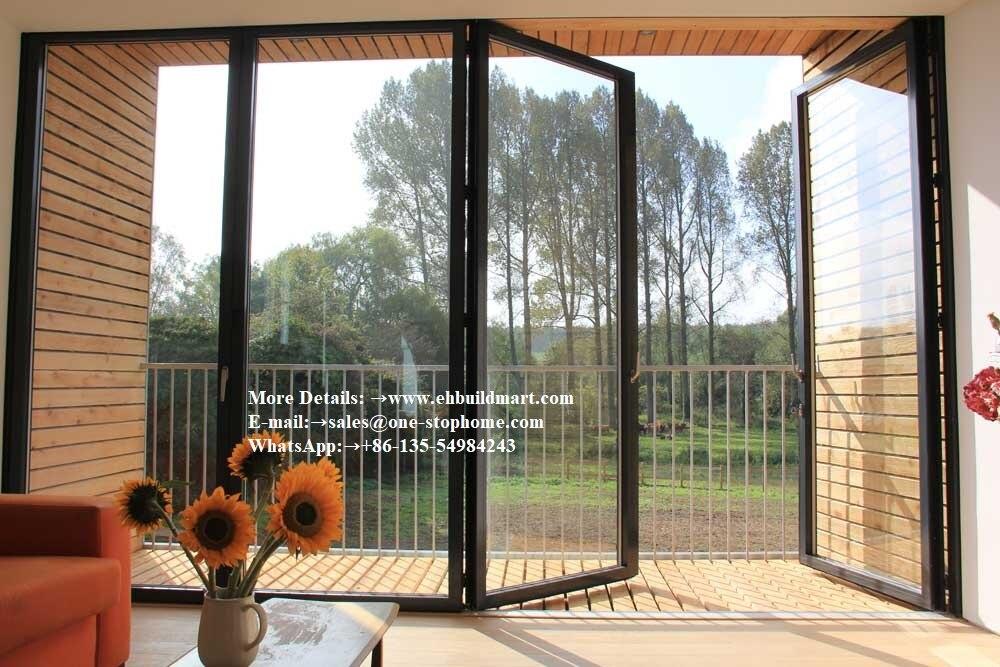 Hurricane Proof Double Glazing Aluminum Folding Door,Multi-Leaf Door