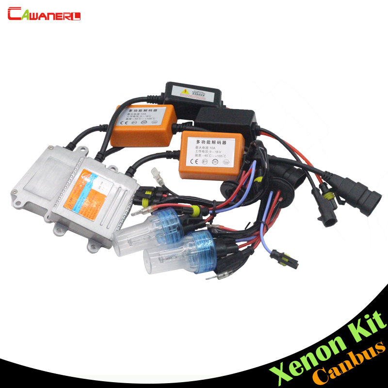 Cawanerl H3 55W Canbus HID Kit Anti Error Xenon Ballast Lamp AC 3000K 4300K 6000K 8000K Car Headlight DRL Fog Light