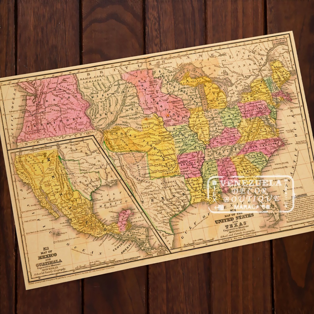 State Maps Poster PromotionShop For Promotional State Maps Poster - Us map poster 24x36
