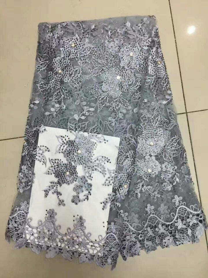 fashion african pearl lace fabrics greyyellowspecial gold nigerian french lace fabric high