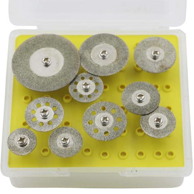10pcs Mini Abrasive Disc Dremel Tools Accessories Wheels Cutting Disc Buffs Set Diamond Jewelry Gemstone Sanding Buffing Micro