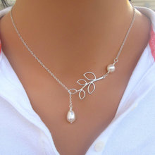 Vienkim 2018 New Hot Sale Fashion Simple Leaves Short Of imitation pearl Necklaces Chain Of Clavicle For Women Wholesale N61(China)